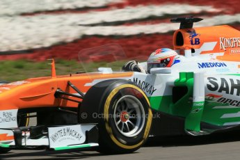 World © Octane Photographic Ltd. F1 German GP - Nurburgring, Saturday 6th July 2013 - Qualifying. Sahara Force India VJM06 - Paul di Resta. Digital Ref : 0745lw1d7443