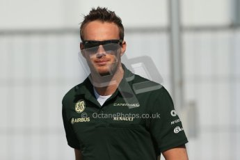 World © Octane Photographic Ltd. F1 German GP - Nurburgring, Sunday 7th July 2013 - Paddock. Caterham F1 Team - Giedo van der Garde. Digital Ref : 0748lw1d7985