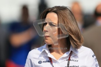 World © Octane Photographic Ltd. F1 German GP - Nurburgring, Sunday 7th July 2013 - Paddock. Williams - Claire Williams. Digital Ref : 0748lw1d8008