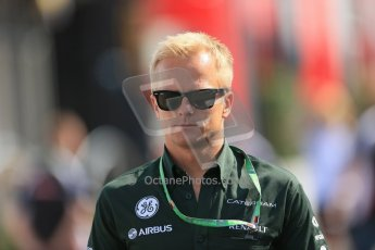World © Octane Photographic Ltd. F1 German GP - Nurburgring, Sunday 7th July 2013 - Paddock. Caterham F1 - Heikki Kovalainen. Digital Ref : 0748lw1d8025