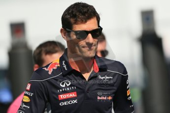 World © Octane Photographic Ltd. F1 German GP - Nurburgring, Sunday 7th July 2013 - Paddock. Infiniti Red Bull Racing - Mark Webber. Digital Ref : 0748lw1d8064