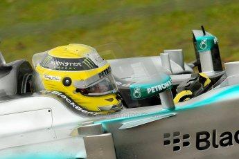 World © Octane Photographic Ltd. F1 British GP - Silverstone, Friday 28th June 2013 - Practice 1. Mercedes AMG Petronas F1 W04 – Lewis Hamilton. Digital Ref : 0724ce1d6357