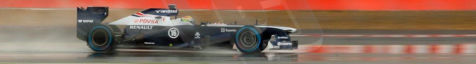 World © Octane Photographic Ltd. F1 British GP - Silverstone, Friday 28th June 2013 - Practice 1. Williams FW35 - Pastor Maldonado. Digital Ref : 0724ce1d6424
