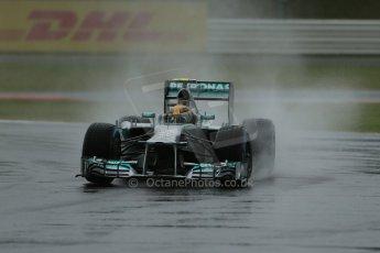 World © Octane Photographic Ltd. F1 British GP - Silverstone, Friday 28th June 2013 - Practice 1. Mercedes AMG Petronas F1 W04 – Lewis Hamilton. Digital Ref : 0724lw1d0766