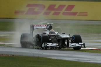 World © Octane Photographic Ltd. F1 British GP - Silverstone, Friday 28th June 2013 - Practice 1. Williams FW35 - Pastor Maldonado. Digital Ref : 0724lw1d0799