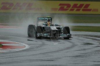 World © Octane Photographic Ltd. F1 British GP - Silverstone, Friday 28th June 2013 - Practice 1. Mercedes AMG Petronas F1 W04 – Lewis Hamilton. Digital Ref : 0724lw1d0891