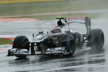World © Octane Photographic Ltd. F1 British GP - Silverstone, Friday 28th June 2013 - Practice 1. Williams FW35 - Valtteri Bottas. Digital Ref : 0724lw1d0945