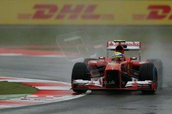 World © Octane Photographic Ltd. F1 British GP - Silverstone, Friday 28th June 2013 - Practice 1. Scuderia Ferrari F138 - Felipe Massa. Digital Ref : 0724lw1d1058