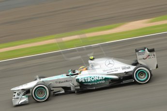 World © Octane Photographic Ltd. F1 British GP - Silverstone, Friday 28th June 2013 - Practice 2. Mercedes AMG Petronas F1 W04 – Lewis Hamilton. Digital Ref : 0726ce1d6986