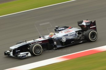 World © Octane Photographic Ltd. F1 British GP - Silverstone, Friday 28th June 2013 - Practice 2. Williams FW35 - Pastor Maldonado. Digital Ref : 0726ce1d7106