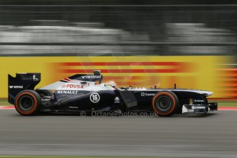 World © Octane Photographic Ltd. F1 British GP - Silverstone, Friday 28th June 2013 - Practice 2. Williams FW35 - Pastor Maldonado. Digital Ref : 0726lw1d0133