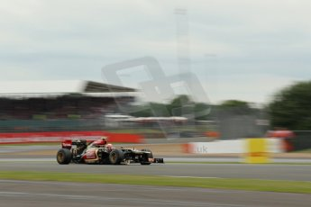 World © Octane Photographic Ltd. F1 British GP - Silverstone, Friday 28th June 2013 - Practice 2. Lotus F1 Team E21 - Romain Grosjean. Digital Ref : 0726lw1d9976