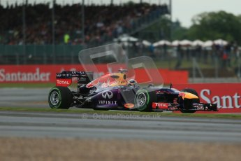 World © Octane Photographic Ltd. F1 British GP - Silverstone, Friday 28th June 2013 - Practice 2. Infiniti Red Bull Racing RB9 - Sebastian Vettel. Digital Ref : 0726lw7dx1116