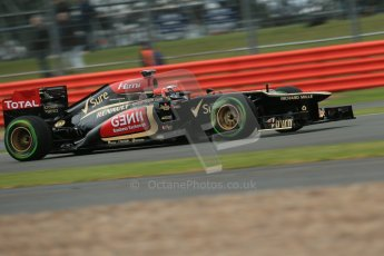 World © Octane Photographic Ltd. F1 British GP - Silverstone, Friday 28th June 2013 - Practice 2. Lotus F1 Team E21 - Kimi Raikkonen. Digital Ref : 0726lw7dx1159