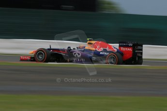 World © Octane Photographic Ltd. F1 British GP - Silverstone, Friday 28th June 2013 - Practice 2. Infiniti Red Bull Racing RB9 - Mark Webber. Digital Ref : 0726lw7dx1344