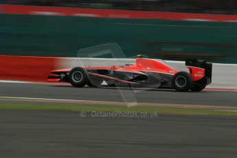 World © Octane Photographic Ltd. F1 British GP - Silverstone, Friday 28th June 2013 - Practice 2. Marussia F1 Team MR02 - Max Chilton. Digital Ref : 0726lw7dx1371