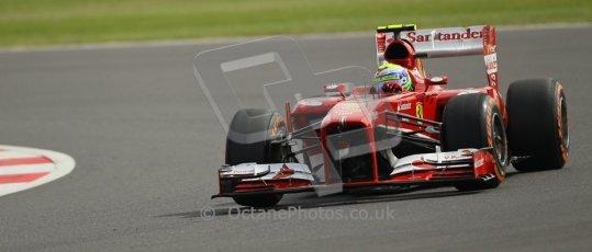 World © Octane Photographic Ltd. F1 British GP - Silverstone, Saturday 29th June 2013 - Practice 3. Scuderia Ferrari F138 - Fernando Alonso. Digital Ref : 0729lw1d0518