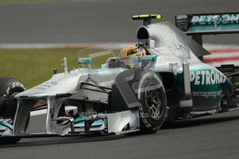 World © Octane Photographic Ltd. F1 British GP - Silverstone, Saturday 29th June 2013 - Practice 3. Mercedes AMG Petronas F1 W04 – Lewis Hamilton. Digital Ref : 0729lw1d0675