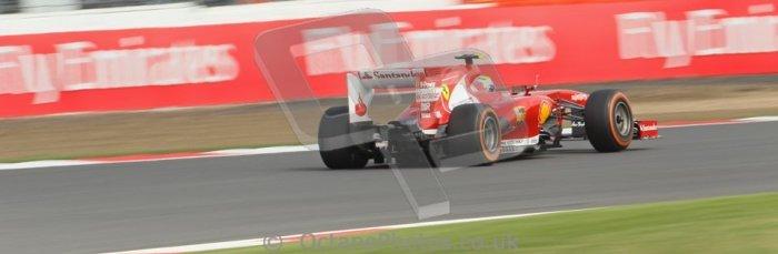 World © Octane Photographic Ltd. F1 British GP - Silverstone, Saturday 29th June 2013 - Practice 3. Scuderia Ferrari F138 - Felipe Massa. Digital Ref : 0729lw1d0746