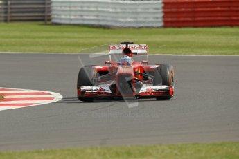 World © Octane Photographic Ltd. F1 British GP - Silverstone, Saturday 29th June 2013 - Practice 3. Scuderia Ferrari F138 - Fernando Alonso. Digital Ref : 0729lw1d0975
