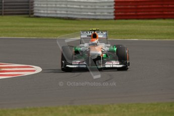 World © Octane Photographic Ltd. F1 British GP - Silverstone, Saturday 29th June 2013 - Practice 3. Sahara Force India VJM06 - Adrian Sutil. Digital Ref : 0729lw1d1013