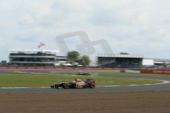 World © Octane Photographic Ltd. F1 British GP - Silverstone, Saturday 29th June 2013 - Practice 3. Lotus F1 Team E21 - Romain Grosjean. Digital Ref : 0729lw1d1587