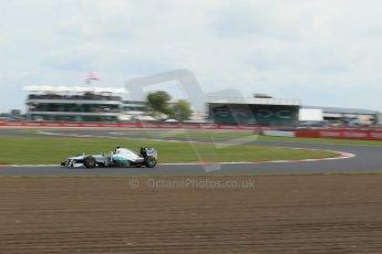 World © Octane Photographic Ltd. F1 British GP - Silverstone, Saturday 29th June 2013 - Practice 3. Mercedes AMG Petronas F1 W04 - Nico Rosberg. Digital Ref : 0729lw1d1611