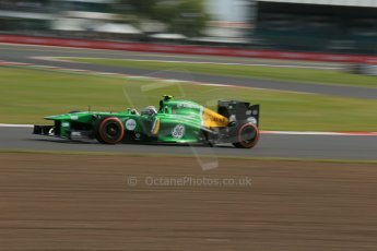 World © Octane Photographic Ltd. F1 British GP - Silverstone, Saturday 29th June 2013 - Practice 3. Caterham F1 Team CT03 - Giedo van der Garde. Digital Ref : 0729lw1d1638