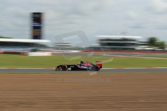 World © Octane Photographic Ltd. F1 British GP - Silverstone, Saturday 29th June 2013 - Practice 3. Scuderia Toro Rosso STR 8 - Daniel Ricciardo. Digital Ref : 0729lw1d1726