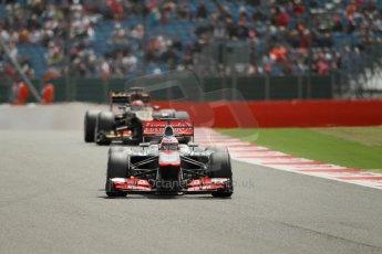 World © Octane Photographic Ltd. F1 British GP - Silverstone, Saturday 29th June 2013 - Qualifying. Vodafone McLaren Mercedes MP4/28 - Jenson Button. Digital Ref : 0730lw1d1263