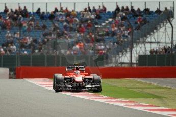 World © Octane Photographic Ltd. F1 British GP - Silverstone, Saturday 29th June 2013 - Qualifying. Marussia F1 Team MR02 - Max Chilton. Digital Ref : 0730lw1d1270