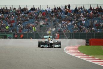 World © Octane Photographic Ltd. F1 British GP - Silverstone, Saturday 29th June 2013 - Qualifying. Mercedes AMG Petronas F1 W04 – Lewis Hamilton. Digital Ref : 0730lw1d1399