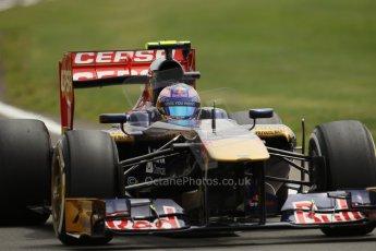 World © Octane Photographic Ltd. F1 British GP - Silverstone, Saturday 29th June 2013 - Qualifying. Scuderia Toro Rosso STR8 - Jean-Eric Vergne. Digital Ref : 0730lw1d1520