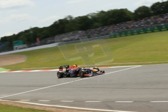 World © Octane Photographic Ltd. F1 British GP - Silverstone, Saturday 29th June 2013 - Qualifying. Infiniti Red Bull Racing RB9 - Mark Webber. Digital Ref : 0730lw1d1851
