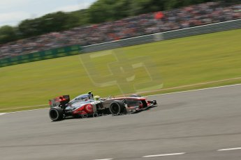 World © Octane Photographic Ltd. F1 British GP - Silverstone, Saturday 29th June 2013 - Qualifying. Vodafone McLaren Mercedes MP4/28 - Sergio Perez . Digital Ref : 0730lw1d1861