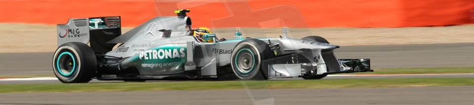 World © Octane Photographic Ltd. F1 British GP - Silverstone, Sunday 30th June 2013 - Race. Mercedes AMG Petronas F1 W04 – Lewis Hamilton. Digital Ref : 0734lw1d2067