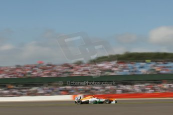 World © Octane Photographic Ltd. F1 British GP - Silverstone, Sunday 30th June 2013 - Race. Sahara Force India VJM06 - Adrian Sutil. Digital Ref : 0734lw1d2208
