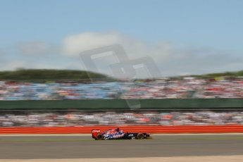 World © Octane Photographic Ltd. F1 British GP - Silverstone, Sunday 30th June 2013 - Race. Scuderia Toro Rosso STR8 - Jean-Eric Vergne. Digital Ref : 0734lw1d2245