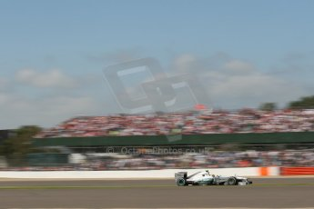 World © Octane Photographic Ltd. F1 British GP - Silverstone, Sunday 30th June 2013 - Race. Mercedes AMG Petronas F1 W04 – Lewis Hamilton. Digital Ref : 0734lw1d2259