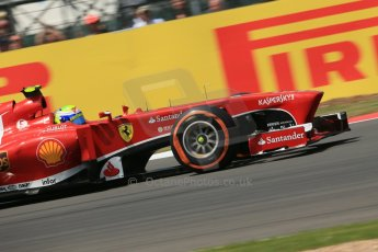 World © Octane Photographic Ltd. F1 British GP - Silverstone, Sunday 30th June 2013 - Race. Scuderia Ferrari F138 - Felipe Massa. Digital Ref : 0734lw1d2641