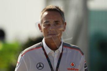 World © Octane Photographic Ltd. F1 British GP - Silverstone, Sunday 30th June 2013 – F1 Paddock. Martin Whitmarsh - Vodafone McLaren Mercedes. Digital Ref : 0733lw1d1603
