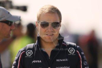World © Octane Photographic Ltd. F1 British GP - Silverstone, Sunday 30th June 2013 – F1 Paddock. Valterri Bottas - Williams. Digital Ref : 0733lw1d1687