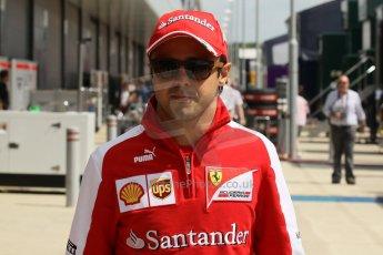 World © Octane Photographic Ltd. F1 British GP - Silverstone, Sunday 30th June 2013 – F1 Paddock. Felipe Massa - Scuderia Ferrari. Digital Ref : 0733lw1d1897