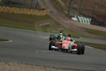 World © Octane Photographic Ltd. 2013 Protyre Formula Renault Championship – Donington Park, Sunday 14th April 2013 - Race 2. Sam MacLeod - Fortec Motorsports. Digital ref : 0635lw1d3476