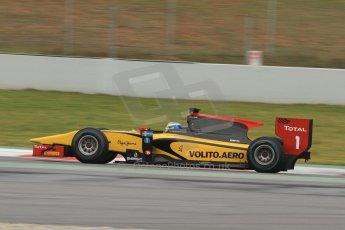 World © Octane Photographic Ltd. GP2 Winter testing, Barcelona, Circuit de Catalunya, 5th March 2013. DAMS – Marcus Ericsson. Digital Ref: 0585cb7d1106