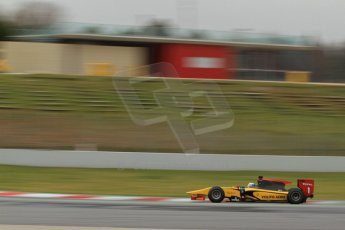 World © Octane Photographic Ltd. GP2 Winter testing, Barcelona, Circuit de Catalunya, 5th March 2013. DAMS – Marcus Ericsson. Digital Ref: 0585cb7d1236