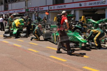 World © Octane Photographic Ltd. GP2 Monaco GP, Monte Carlo, Thursday 23rd May 2013. Practice and Qualifying. Sergio Canamasas and Alexander Rossi – EQ8 Caterham Racing. Digital Ref: 0693cb7d0993