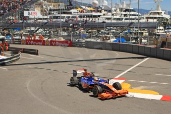 World © Octane Photographic Ltd. GP2 Monaco GP, Monte Carlo, Thursday 23rd May 2013. Practice and Qualifying. Robin Frijns - Hilmer Motorsport. Digital Ref : 0693cb7d1053