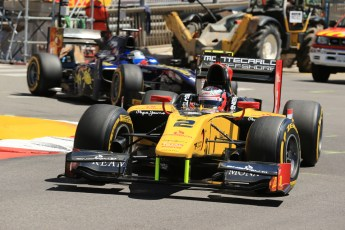World © Octane Photographic Ltd. GP2 Monaco GP, Monte Carlo, Thursday 23rd May 2013. Practice and Qualifying. Stephan Richelmi - DAMS and Sam Bird – Russian TIME. Digital Ref : 0693lw1d7352
