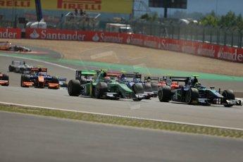 World © Octane Photographic Ltd. GP2 German GP, Nurburgring, 6th July 2013. Race 1. The opening lap action. Digital Ref : 0746lw1d7638